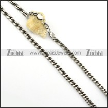 Vintage 316L Stainless Steel Chain for matching men's biker jewelry -n000252