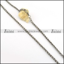 Vintage 316L Stainless Steel Chain for matching men's biker jewelry -n000249