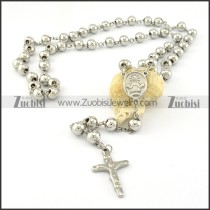 8mm wide rosary necklace with Jusus cross pendant -n000274