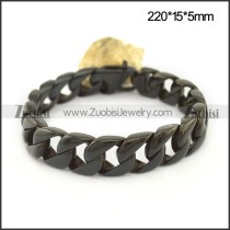 Black Plated Casting Chain Bracelet with Lobster Clasp b004032