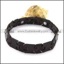 Mens Black Tungsten Bracelet b003772