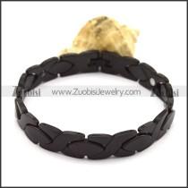 Mens Black Tungsten Bracelets b003771