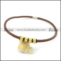 leather necklace n000447