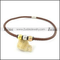 leather necklace n000443