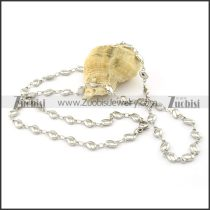Clean-cut 316L small chain necklaces for ladies -n000393