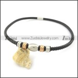 leather necklace n000430