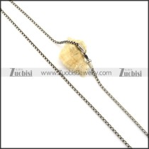 Economic Stainless Steel Stamping Necklace with Vintage-inspired Style -n000336
