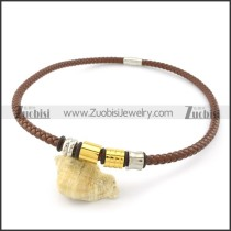 leather necklace n000441