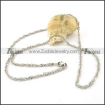 Nice Nonrust Steel small chain necklaces for ladies -n000380