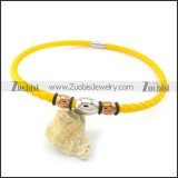 leather necklace n000427