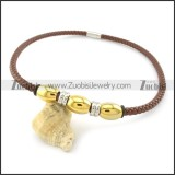leather necklace n000429