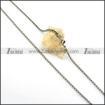 Good Welcome Oxidation-resisting Steel Stamping Necklace with Vintage-inspired Style -n000335