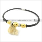 leather necklace n000428