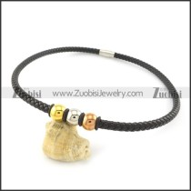 leather necklace n000442