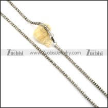 Pretty 316L Steel Stamping Necklace with Vintage-inspired Style -n000343