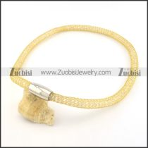 special yellow gold stainless steel chain necklace n000498