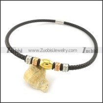 leather necklace n000434
