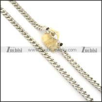 8mm silver stainless steel square necklace chain n000518