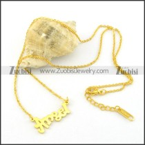 gold finished ANGEL pendant necklaces n000471