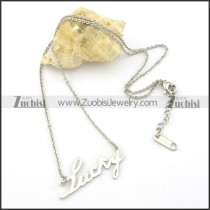 LUCKY charm necklaces n000462