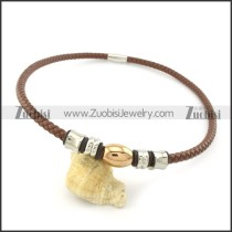 leather necklace n000437