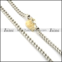 10mm large silver stainless steel square necklace chain n000519