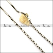 Great Quality Noncorrosive Steel Stamping Necklace with Vintage-inspired Style -n000349