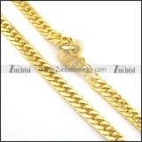 14.5mm large gold plating necklace n000665