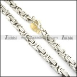 16MM Wide Huge Silver Stainless Steel Double Link Chain Necklace n000550