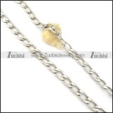 11.5mm flat O shaped necklace chain n000530