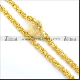 9mm wide gold finishing special necklace n000663