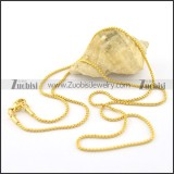 1.4mm wide gold cover ball chain necklace n000654