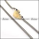 6mm wide square casting necklace for men n000658