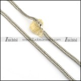 8.5mm beautiful stainless steel hand chain necklace n000531