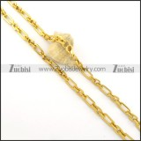 6.5mm gold plating steel chain n000534