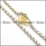0.8cm great wall pattern necklace n000666
