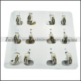 remarkable 316L Stainless Steel Cutting Earring for Ladies - e000313
