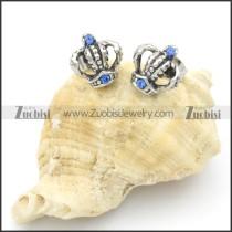 Stainless Steel Casting Crown Earrings -e000124