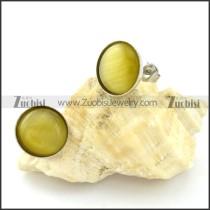 great 316L Cat Eye Stone Earring -e000529