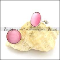 beautiful 316L Steel Cat Eye Stone Earring -e000528