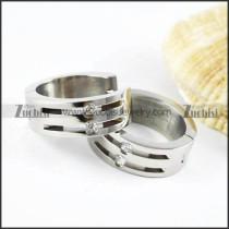 Silver Stainless Steel Earring - e000002