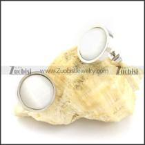 pretty noncorrosive steel Cat Eye Stone Earring -e000524