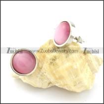 economic 316L Stainless Steel Cat Eye Stone Earring -e000525