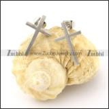pretty noncorrosive steel cross Cutting Earrings for Women - e000358