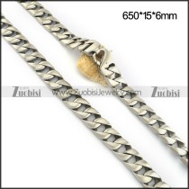Matte Stainless Steel Casting Necklace n001092