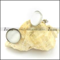 beauteous Steel Cat Eye Stone Earring -e000527