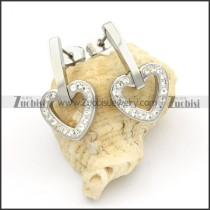 Stainless Steel Heart Earrings -e000152