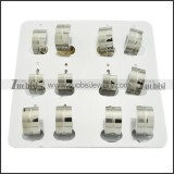 practical oxidation-resisting steel Cutting Earring for Ladies - e000314