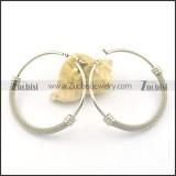 clip on earrings in stainless steel e000868
