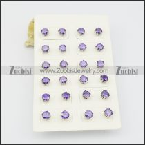 purple stud earrings for girls e000883